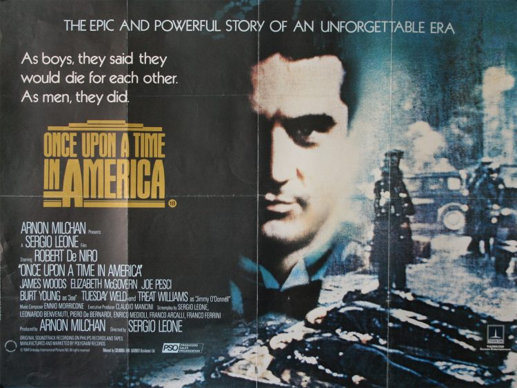 Once Upon a Time in America quad poster