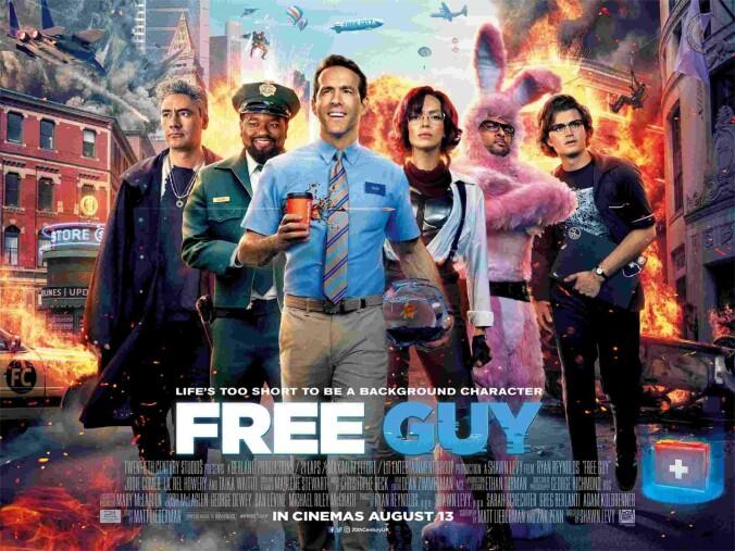 Free Guy quad poster