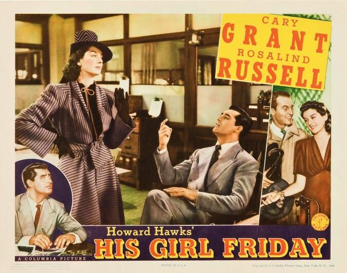 His Girl Friday lobby card