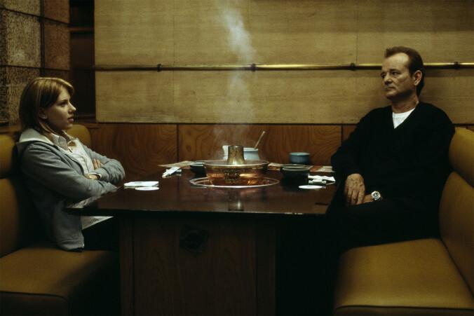 Scarlett Johnansson and Bill Murray at a Tokyo restaurant