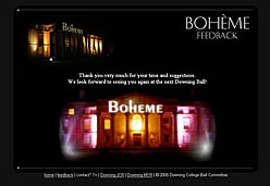 the Boheme Feedback site