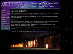 Downing Ball website