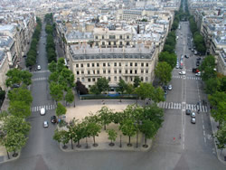 Paris from atop the Arc de Triomphe