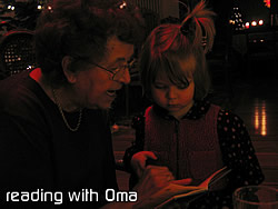 Reading with Oma