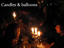 Candles and balloons