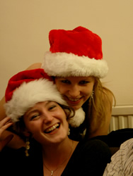 Santa Cat and Lyds