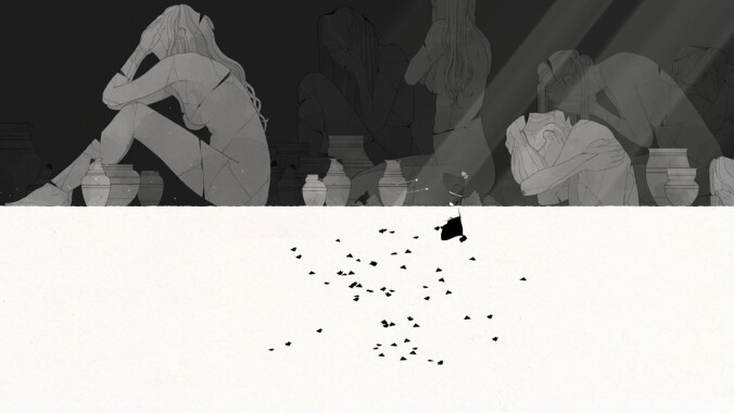 Gris screenshot - running from grief
